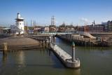 Harbor entrance on the Wadden Sea