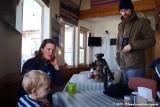 Coffee break after the Eagle feeding