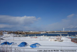 Japanese harbour in winter