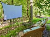 Outdoor Movie Screen at neighbors