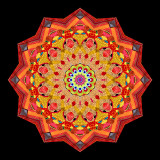 Mandala-like creations
