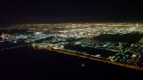 Landing in Miami in the night