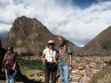 At the Temple of the Sun in Ollantyatambo