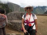At the Intihuatana in Machu Picchu