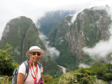 On Machu Picchu with the Urubamba river in the background