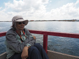 On a boat in Lake Titicaca - 2019