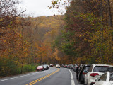Cars parked outside Catoctin Mountain Park