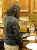Making squash filling for Ravioli
