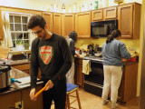 The cooking scene