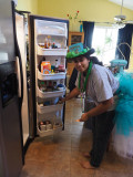 The kitchen fridge