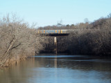Freight train crosses the Monocacy river