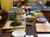 Prepping for dinner