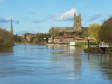 River Severn and cathedral
