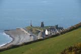Castle ruin and Memorial from Pen Dinas