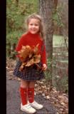 girl at Radnor Lake, fall