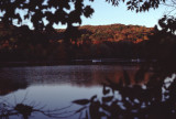fall lake view with canoes RL