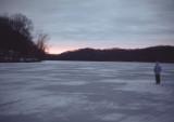 frozen Radnor Lake