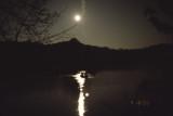 moon over on Radnor Lake