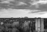Chernobyl Sarcophagus from Pripyat