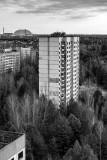 Chernobyl from Pripyat