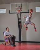 Jon & Logan @ Basketball Tryouts