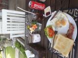 Breakfast at Bali Santi Bungalows. Candi Dasa