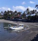 The beach at Bali Santi Bungalows. Candi Dasa