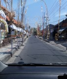 Street after a temple testival. Bali