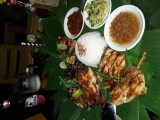 Dinner at restaurant Ibu Rai. Ubud