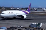The B777 that brought me from Bali back to Bangkok