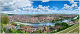 Panoramic view of city center from the fortress
