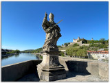 The statue of St. Kilian at the Old Main Bridge