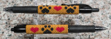 Paw Prints & Hearts Pen Sleeves #3 & 4