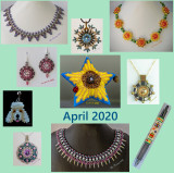 Monthly Beading Projects Montages