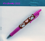 Paw Print and Hearts Pen Wrap