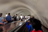Descending Moscow Metro