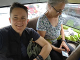 Back seat of the van