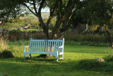 The seat under the apple tree