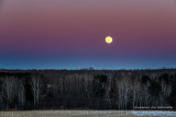 Full Blue moon after sunset