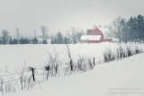 A red Wisconsin barn