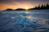 Sunset over ice 2