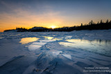 Sunset over ice 3