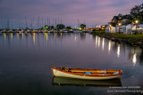 Bayfield harbor at night.