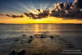 Sunset over Sand island 1