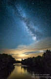 Milky Way with golden clouds