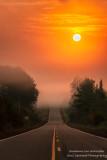 Orange sunrise, foggy morning 2