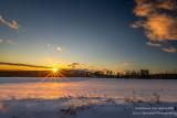 Winter sunset over Christie Mountain
