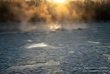 Chippewa River at sunrise, at -18F