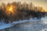 A frigid sunrise, Chippewa river