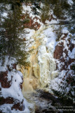 Brownstone Falls with ice